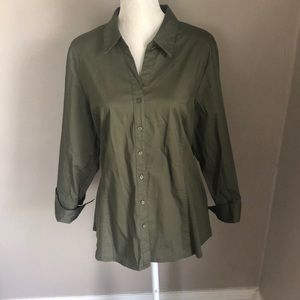 NWOT NY Collection Button Down Blouse
